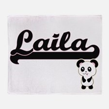Laila Classic Retro Name Design with Throw Blanket