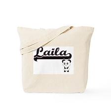Laila Classic Retro Name Design with Pand Tote Bag