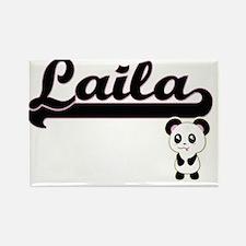 Laila Classic Retro Name Design with Panda Magnets