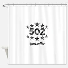 Vintage 502 Louisville Shower Curtain