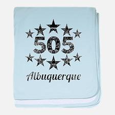 Vintage 505 Albuquerque baby blanket