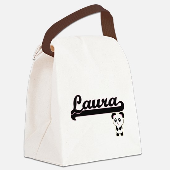 Laura Classic Retro Name Design w Canvas Lunch Bag