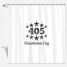Vintage 405 Oklahoma City Shower Curtain
