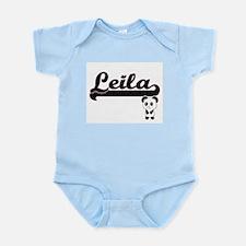 Leila Classic Retro Name Design with Pan Body Suit