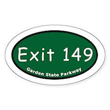 Exit 149 - Belleville Avenue Oval Decal