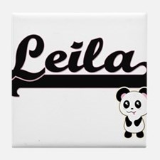 Leila Classic Retro Name Design with Tile Coaster