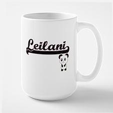 Leilani Classic Retro Name Design with Panda Mugs