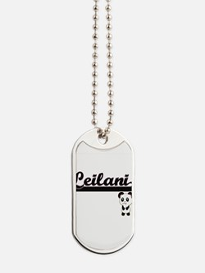 Leilani Classic Retro Name Design with Pa Dog Tags