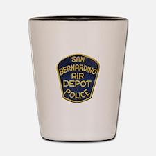 San Bernardino Air Depot Police Shot Glass