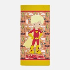 Little Superhero Character Personalize Beach Towel
