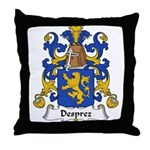 Desprez Family Crest Throw Pillow
