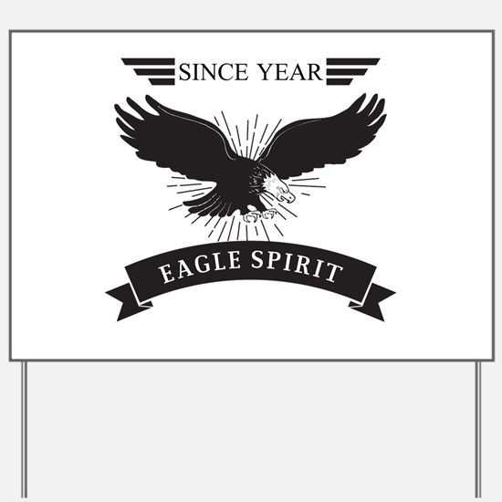 Personalized Birthday Eagle Spirit Yard Sign