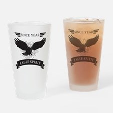 Personalized Birthday Eagle Spirit Drinking Glass