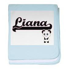 Liana Classic Retro Name Design with baby blanket
