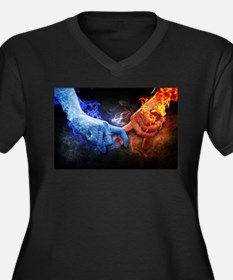 Fire and Ice Plus Size T-Shirt