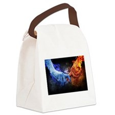 Fire and Ice Canvas Lunch Bag