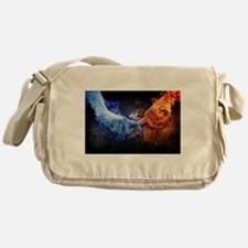 Fire and Ice Messenger Bag