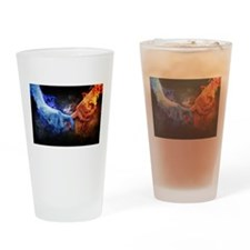Fire and Ice Drinking Glass