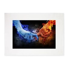 Fire and Ice 5'x7'Area Rug