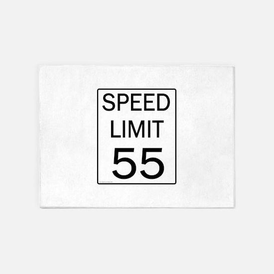 Speed Limit-55JPG.jpg 5'x7'Area Rug