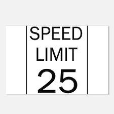 Speed Limit-25JPG.jpg Postcards (Package of 8)