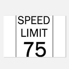 Speed Limit-75.jpg Postcards (Package of 8)