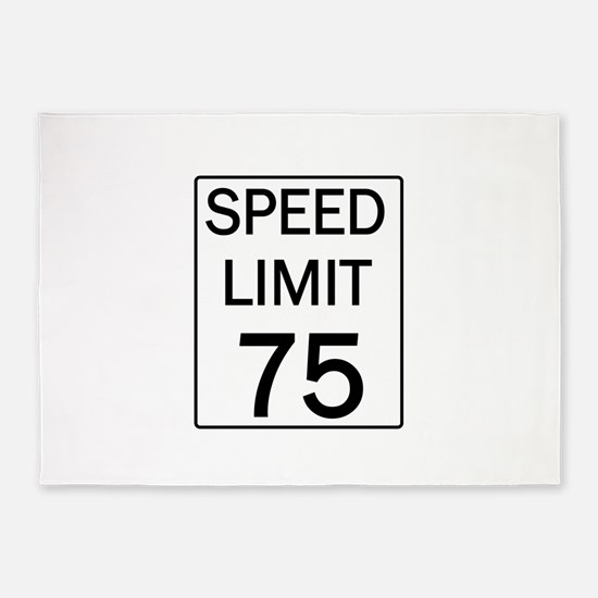 Speed Limit-75.jpg 5'x7'Area Rug