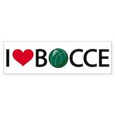 Bocce Bumper Car Sticker