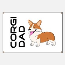 Red and white Corgi Dad Banner