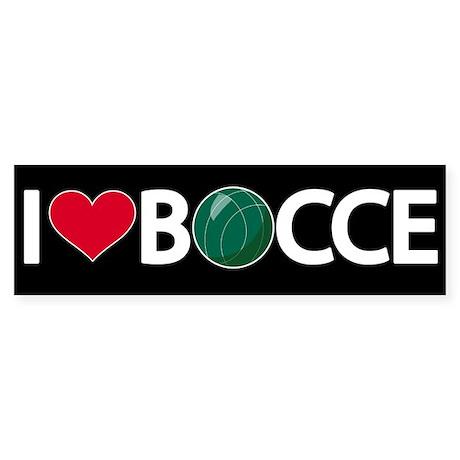 Bocce Bumper Sticker