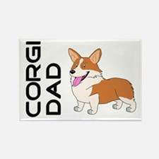 Red and white Corgi Dad Magnets