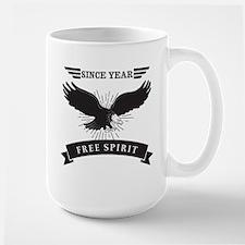 Personalized Birthday Eagle Spirit Large Mug