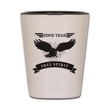 Personalized Birthday Eagle Spirit Shot Glass