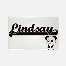 Lindsay Classic Retro Name Design with Pan Magnets