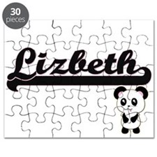 Lizbeth Classic Retro Name Design with Pand Puzzle