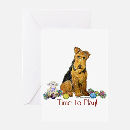 Welsh Terrier Playtime! Greeting Card
