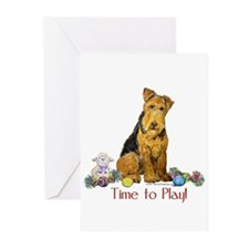 Welsh Terrier Playtime! Greeting Cards (Pk of 10)