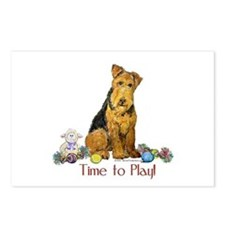 Welsh Terrier Playtime! Postcards (Package of 8)