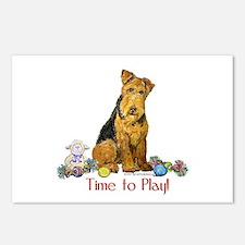 Welsh Terrier Playtime! Postcards (Package of 8)