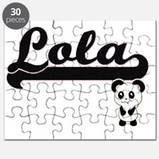 Lola Classic Retro Name Design with Panda Puzzle