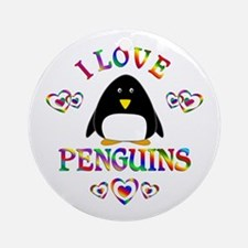 I Love Penguins Ornament (Round)