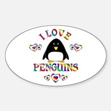 I Love Penguins Decal
