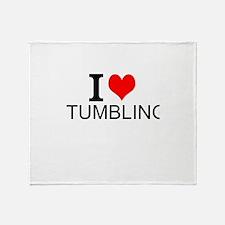 I Love Tumbling Throw Blanket