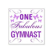 """One Fabulous Gymnast Square Sticker 3"""" x 3"""""""