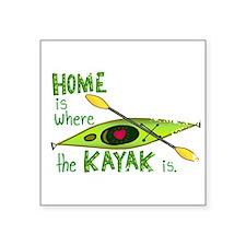 "Funny Kayaking Square Sticker 3"" x 3"""