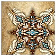 Native American Style Mandala 26 Poster
