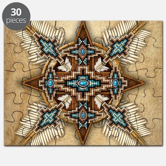 Native American Style Mandala 26 Puzzle