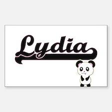 Lydia Classic Retro Name Design with Panda Decal