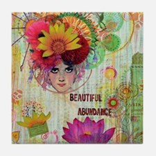 Beautiful Abundance Tile Coaster