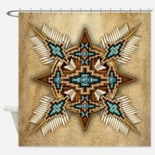 Native American Style Mandala 26 Shower Curtain